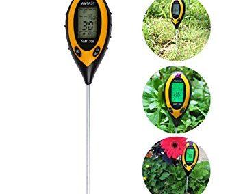 4 en 1: medidor de temperatura, ph, , luz solar y humedad